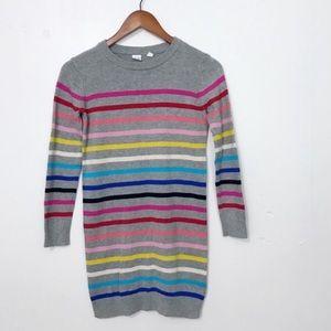 Rainbow striped sweater dress